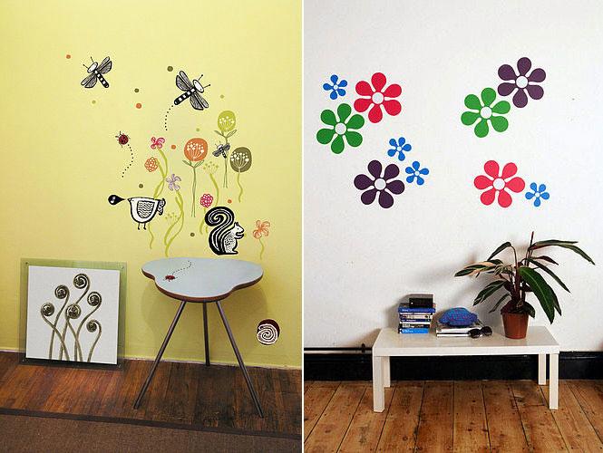 Beautiful Flower Nature Wall Stickers