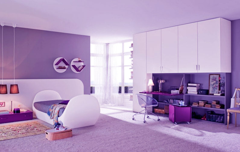 Beautiful Purple Bedroom for Girl