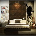 Boys Bedroom with Black Wall Art Decor Ideas