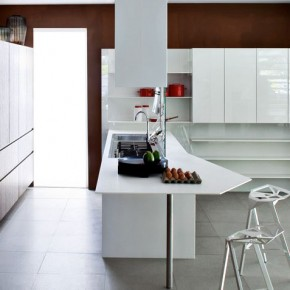 Brown Wood Kitchen Different Angle View