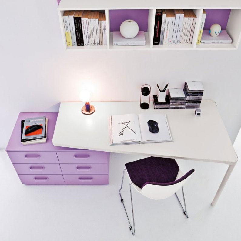 Catchy Modern Light Purple Study Desk