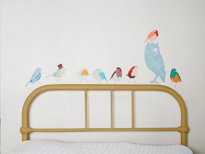 Colorful Bird Wall Stickers Design Ideas
