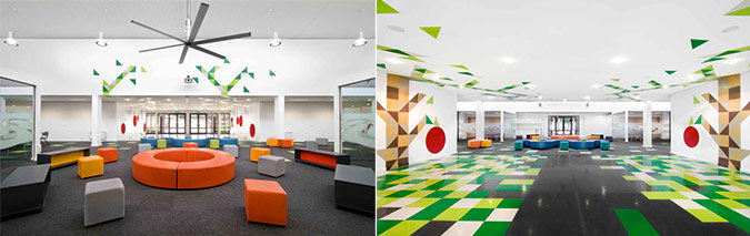 Modern and Colorful Elementary School Interiors - Interior Design ...