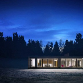 Cool Atmosphere Winter House Glass Exterior