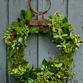 Cool Green Garland in Gate Christmas Decor