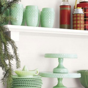 Cool Green Pottery for Christmas Decor