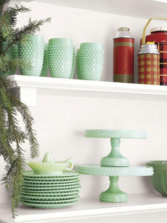 Cool Green Pottery for Christmas Decor