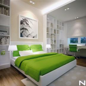 Cozy Green White Bedroom for Boys