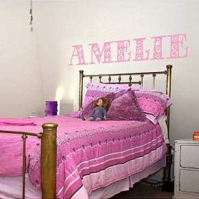 Creative Name Letter Wall Stickers Pink Color