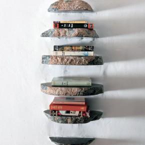 Creative Stone Hanging Bookshelf Design