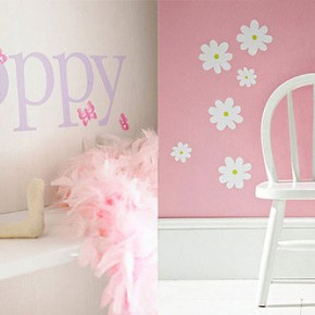 Cute Name Butterfly Daisy Wall Decor