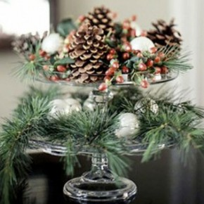 Exotic Pine and Ball Christmas Decorations