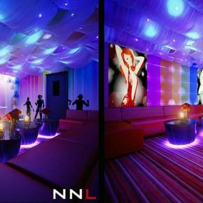 Glamour Fabric Ceiling Nightclub Design