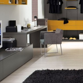 Grey Yellow Furniture For Study Room Ideas