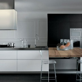 Grey and White Furniture With a Wooden Element