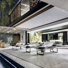 Luxurious Terrace Pool with Modern Lighting