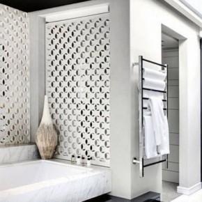 Luxurous White Black Bathroom Design