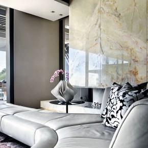 Luxury Livingroom with Marble Wall Decor