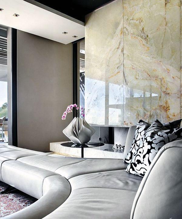 Luxury Living Room Wall Decor : Luxury livingroom with marble wall decor interior design