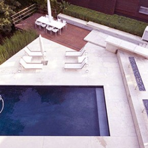 Luxury Pool with Sun Deck Bird View