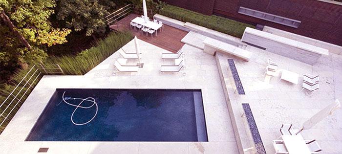 Luxury Pool with Sun Deck Bird View