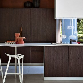 Mahogany Kitchen Furniture with Brown Exotic Combination
