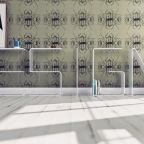 Modern Acrylic Letter Shelves Design