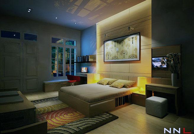 Modern Bedroom With Storage Under Bed Interior Design Ideas