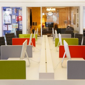 Modern Colorful Office Partition Design