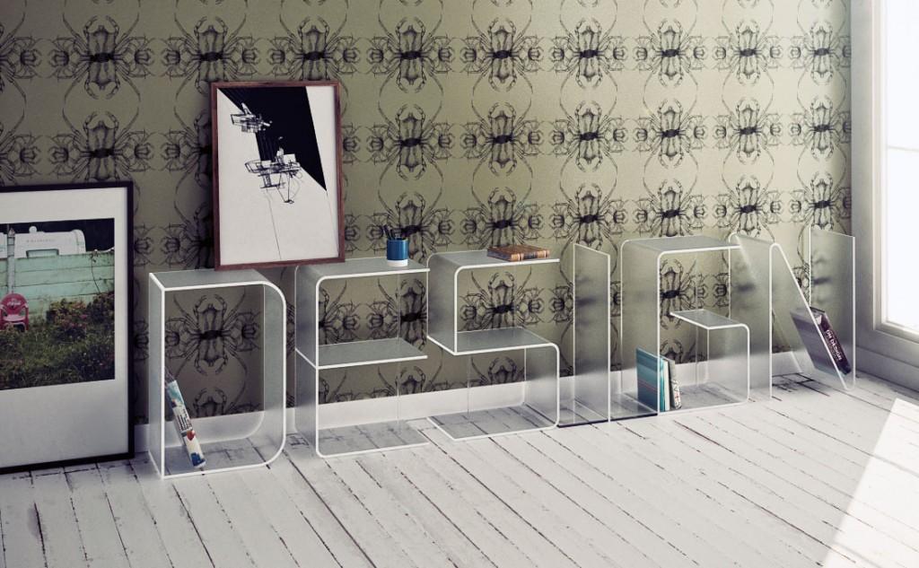 Modern Customizable Letter Shelves Design