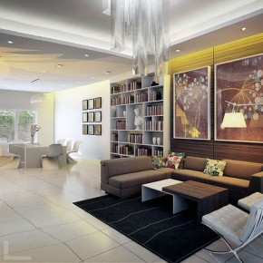 Modern Living and Dining in One Spaces Design