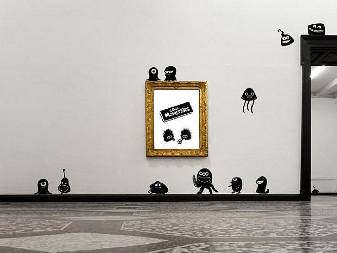 Modern Monster Cartoon Wall Decals