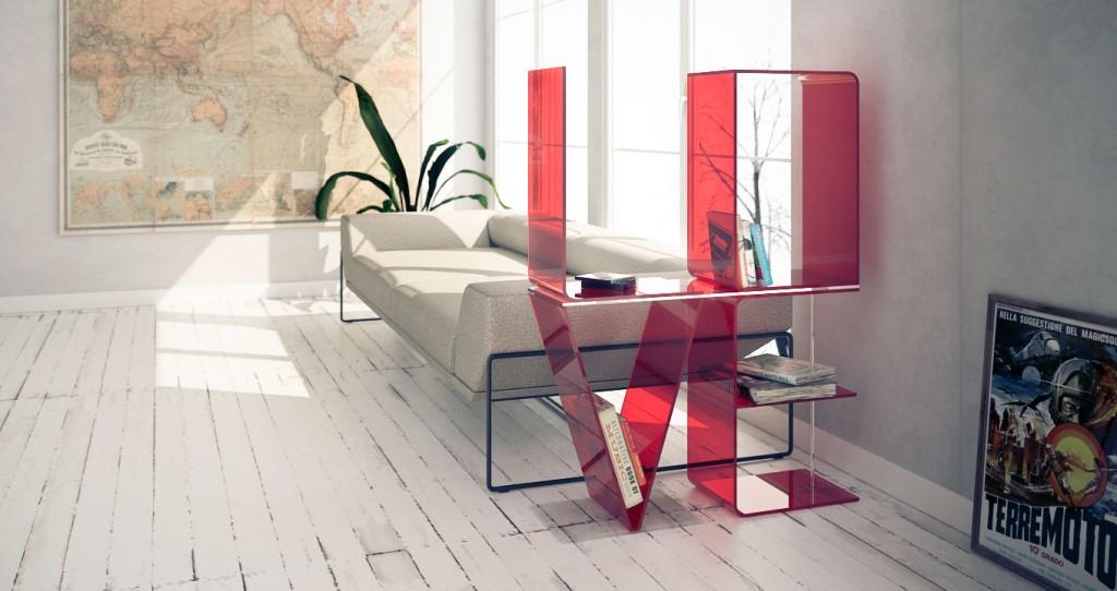 Modern Shelves Room Divider Side of the Bed