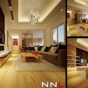 Neutral Palette White Oak Living Room
