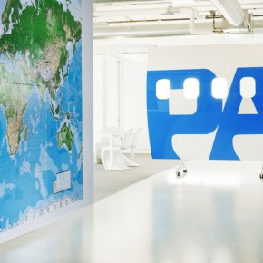Office World Map Wall Decor Ideas