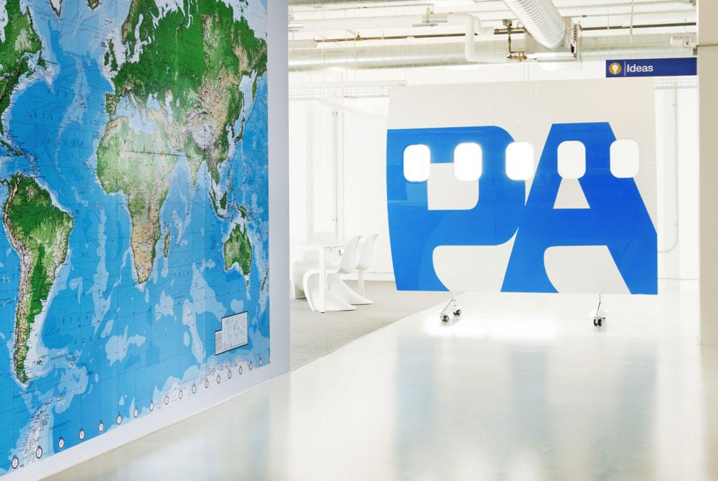 Office World Map Wall Decor Ideas