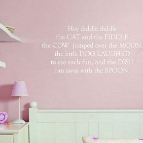 Pink Nursery Theme Wall Stickers
