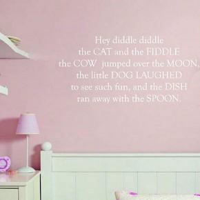 Pink Nursery Theme Wall Stickers