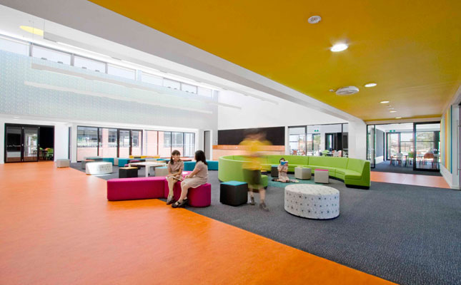 Pleasant Spaces with Colorful Design