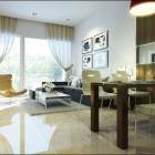 Shining Living Room and Dining Room Space