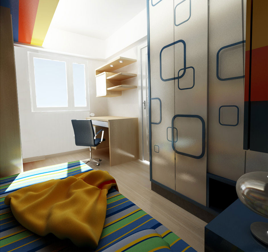 Small Kids Room with Modern Storage Ideas