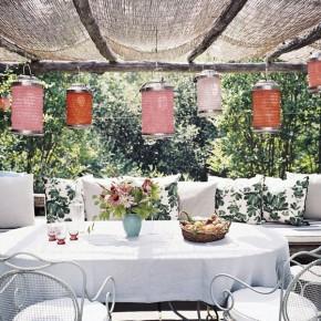 Tropical Garden Lanterns Pergola