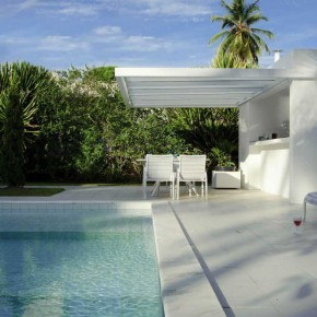Tropical House Design with Pool and Lounge