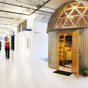 Unique office Design with Wooden Gazebo