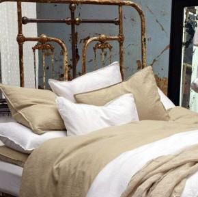 Vintage Beige and White Bedroom Design