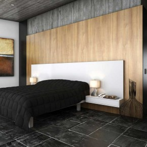 Warm Bedroom with Black Cover Ideas