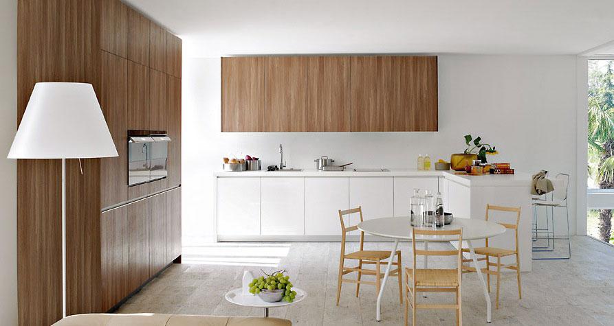 Warm Heart Pine Furniture in White Kitchen