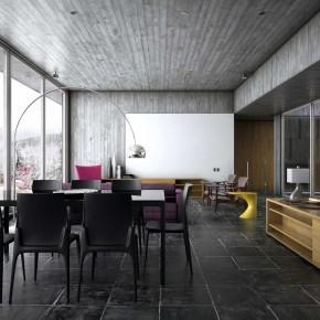 Warm Living Room Winter House