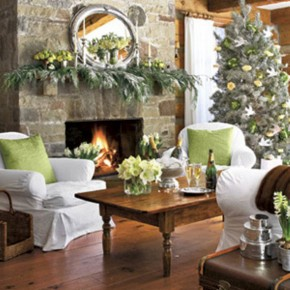 Warm Living Room with Christmast Decor Ideas