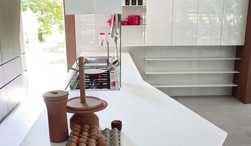 White Cupboards in a Darker Kitchen